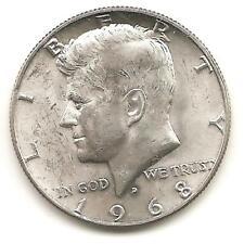 1968 D  Kennedy Half Dollar - AU (40% silver)