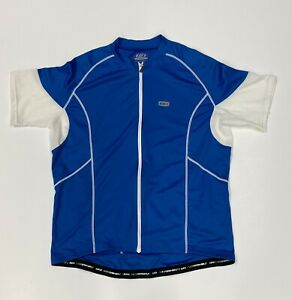 Louis Garneau Men's 3 XL Cycling Jersey Blue & White Pockets