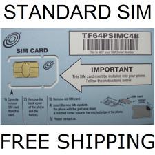 4G Lte Gsm Net10 Sim Card Standard Sim Card Brand New on At&T Network