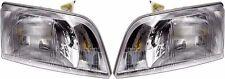 VOLVO VN VNL 300 VNM 200 SERIES 2000-2011 HEAD LIGHTS LAMP HEADLIGHT - PAIR
