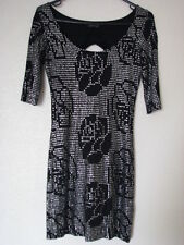 Topshop Black Silver Sparkly Mini Stretch Dress S: 8 - EUR 24/36