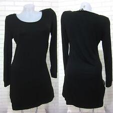 NEU Tunika SHIRT Kleid Longshirt Top Schwarz  40,42,44,46,48,50 (T148S) GLAMZ