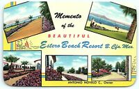 VTG Postcard Motel Hotel California CA Baja Estero Beach Resort Mexicali A6