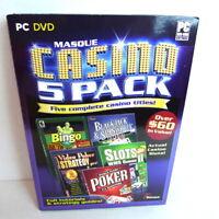 IGT  Casino Poker 5 Pack Video Slot Mac New DVD Windows PC 2010 Brand New Item