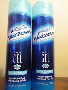 2x Noxzema shave gel extra sensitive with vitamin E 7 oz