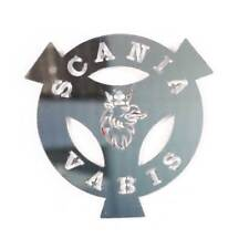 Logo SCANIA VABIS Mirror Polished Steel Stainless Decoration Badge Front Emblem