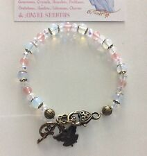 Code 651 Opalite Cherry Quartz Crystal Bracelet Infused Angel Watching Over You