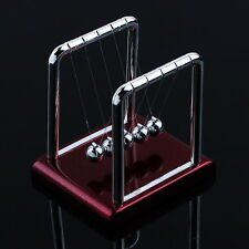 Newtons Cradle Steel Balance Balls Desk Physics Science Pendulum Desk Toy GF