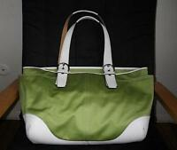 NICE COACH SOHO MULTIFUNCTION GREEN BABY DIAPER TOTE BAG PURSE