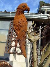 perroquet en fonte pat rouillé , statue d oiseau ,  belle déco a suspendre .