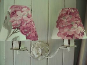 HANDMADE** LAURA ASHLEY CANDLE LAMPSHADES**HYDRANGEA PINK FRENCH STYLE CHIC