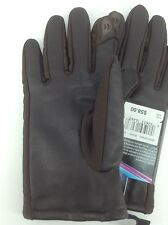 Women's ISOTONER Brand Brown LEATHER DRESS Gloves - size M / L - $58 MSRP - 25%