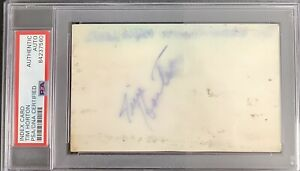 Tim Horton Signed Index Card NHL Hockey HOF Toronto MapleLeafs Autograph PSA/DNA
