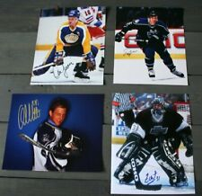 Lot of 4 Autographed LA Kings 8x10 Photos  Lewis Moger Moller Chabot  c/w COA