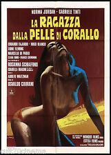 LA RAGAZZA DALLA PELLE DI CORALLO MANIFESTO CINEMA TINTI JORDAN 1976 POSTER 2F
