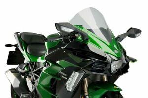 PUIG BLACK / GREEN DOWNFORCE SPOILERS RACE WINGS KAWASAKI NINJA H2 & SX M3658V