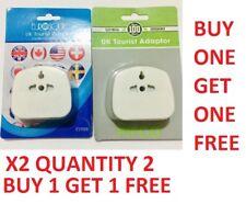 Universal USA/AUS/CHINA/EU To UK 3 Pin Tourist Travel Adapter Plug UK SELLER 2X