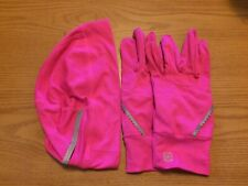 Yoga/Athletic Glove and Hat Set, hot pink