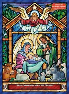 Vermont Christmas Company Chocolate Advent Calendar, Stained Glass (BB121)