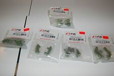 STRC Aluminum Slash 2wd Bulkhead Shock Caps Casters Knuckles Hub Carriers GREEN