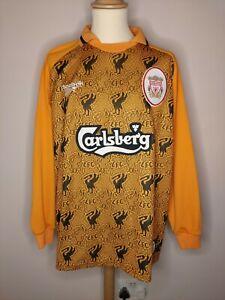 Rare Original 1996-1997 Liverpool Home GK Shirt Large Men's REEBOK