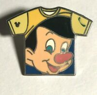 DISNEY WDW 2011 HIDDEN MICKEY SERIES T-SHIRT COLLECTION PINOCCHIO PIN