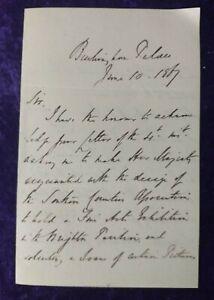 1867 Buckingham Palace hand written letter - Queen Victoria