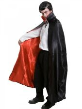 Vampire Magician Adult Cape Black with Red Lining Deluxe Satin Dracula Cloak
