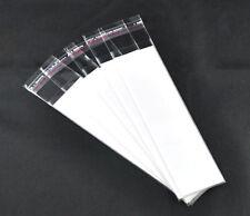 50 Self Adhesive Seal Plastic Bag Transparent Display Card White Paper Rectangle