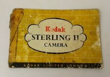 Vintage c1950's Kodak Sterling II Camera INSTRUCTION BOOKLET ONLY