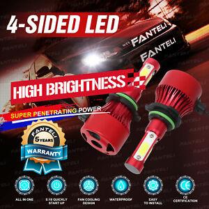4-Sided Cree LED Headlight Kit 9006 HB4 9012 6000K 2200W 330000LM Low Beam Bulbs