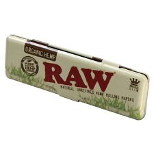 RAW Rolling Papers Organic Paper Holder Case King Size Slim Metal Tin Storage