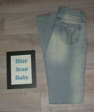 Miss Sixty Tommy Jeans Low Distressed Flares Light Wide Leg Bell Bottoms 70's 28