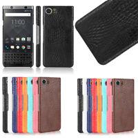 For BlackBerry Keyone 1 Key 2 Q30 Q5 Skin Back Slim Case Cover Croco Leather
