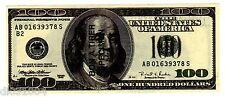 BON A TIRER SPECIMEN 100 DOLLARS 1996 PUBLICITé FANTAISIE SANS VALEUR