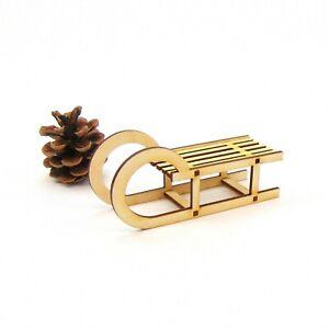 Schlitten aus Holz, Weihnachten, Geschenk, Dekoration, Tischdeko, Kreativ Set