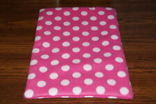 New Hot Pink Polka Dot Fleece Dog Cat Pet Carrier Crate Blanket Free S/H! Bcr