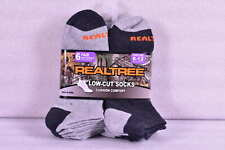 Men's Realtree Cushion Comfort Low Cut Socks, Light Grey & Dark Grey - 6 Pairs