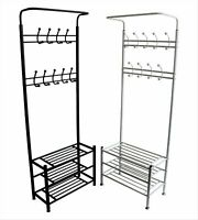Metal Hat and Coat Stand Home Office Clothes Shoes Rack Umbrella Steel Stand new