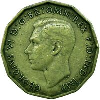 BRASS THREEPENCE GEORGE VI. CHOOSE YOUR DATE!     ONE COIN/BUY!