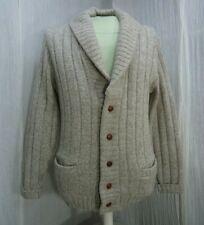 London Fog Shawl Collar Wool Grandpa Cardigan Button Up Sweater 38 Chest M