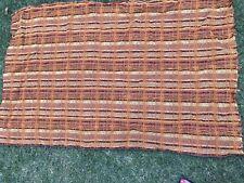 Genuine Original Vintage Retro Check Boucle Upholstery Fabric