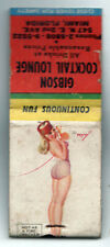 GIBSON COCKTAIL LOUNGE Miami Florida MATCHBOOK COVER Petty PIN UP GIRL Beach FL