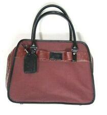 Joy Mangano Shoulder Bag Luggage Red Travel Weekend Carry On Pockets Zip Around