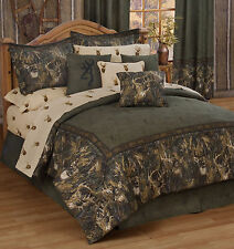Browning Whitetails Comforter Set Rustic Lodge & Cabin Kimlor Twin Bedding 3pc