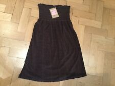 NWT Juicy Couture New & Gen. Brown Smock Cotton Beach Dress Ladies Small UK 8/10