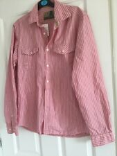 """Marks & Spencer NORTH COAST Mens Long Sleeve Striped Shirt Size  S Chest 36""""-38"""""""