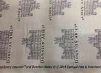 "Andover Prints 100% Cotton  45"" Downton Abbey Logos and Labels by Kathy Hall"