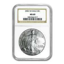 2006-W Burnished Silver American Eagle MS-69 NGC - SKU #23325