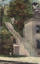 1916 Photochrom Main Street Stairs Stillwater Minnesota Tom Young Minneapolis